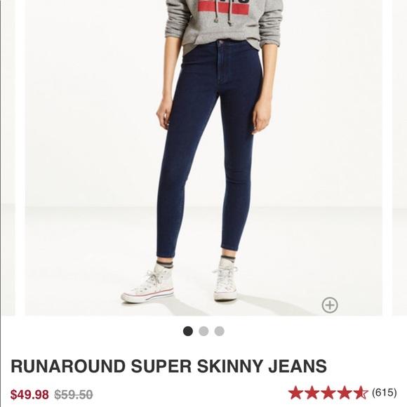 3d495ce58ac Levi s Denim - NWOT Levi s runaround super jegging jeans
